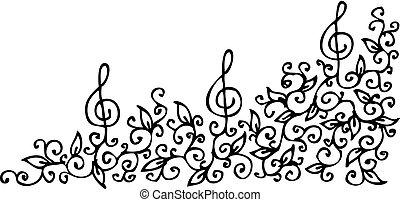 Musical vignette CXLIV - Refined floral vignette 144 Eau-...