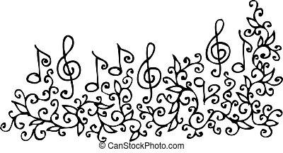 Refined floral vignette 91. Eau-forte black-and-white swirl decorative vector illustration.
