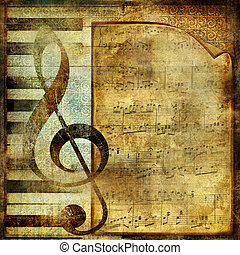 Musical Vintage Background