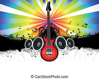 musicale, chitarra, astratto