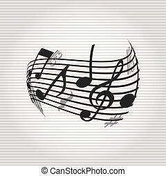 musicale, icona, disegno