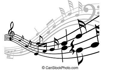 musicale, roba, fondo
