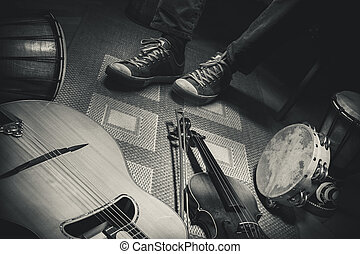 Musician And His Instruments