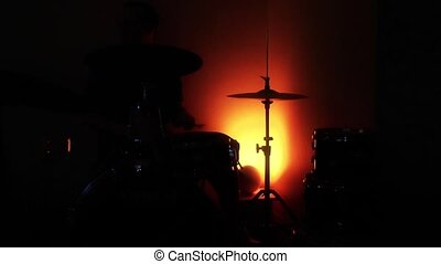 Musician Drummer Silhouette Performance Playing