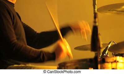 musician in concert, hands playing