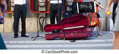 Musician in the street, Trieste
