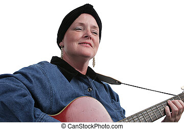 Musician Survivor - A cancer survivor relaxing and playing...