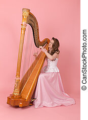 musician with harp