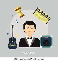 Musicians Conceptual illustration Design