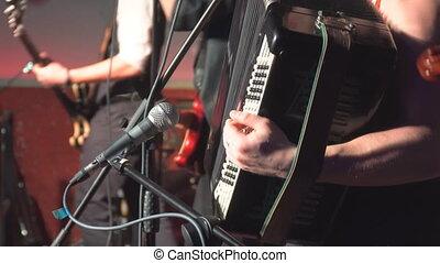 musiciens, barre, étape