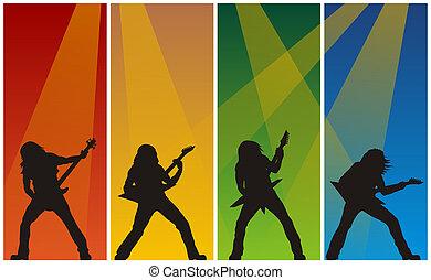 musiciens, rocher