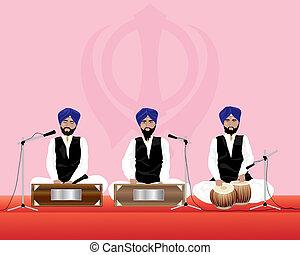 musiciens, sikh