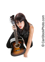 musicista, femmina