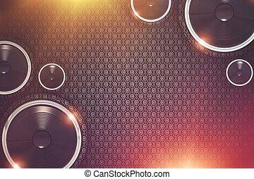 musik, bakgrund, visa