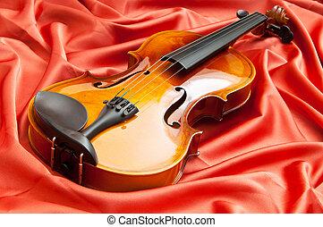 musik, begrepp, med, violin