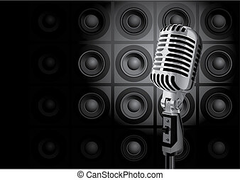 musik, ereignis, (vector)