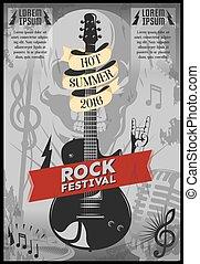 musik, festival, affisch