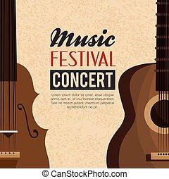 musik, festival, konsert, affisch
