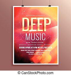 Plakat, flieger, design, schablone, broschüre, musik.... EPS Vektor ...