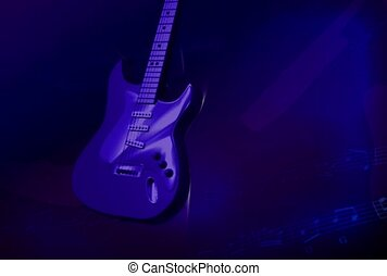 musik, gitarre, felsen rolle