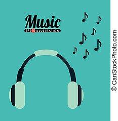 musik, hörlurar