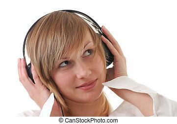 musik, hallgat