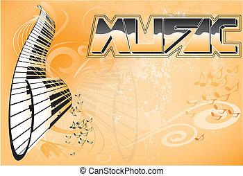 musik, hintergrund