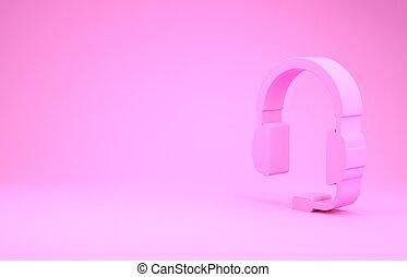 musik, ikon, operator., rosa, render, minimalism, mikrofon, ...