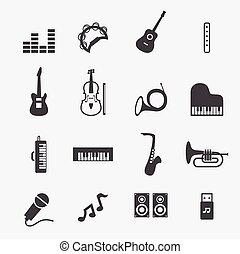 musik, ikone