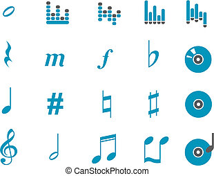 musik, ikone, satz