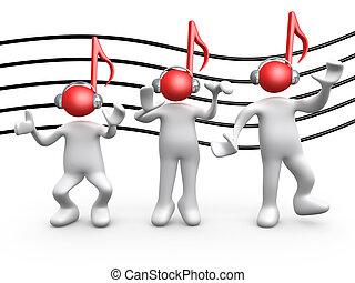 musik, leute