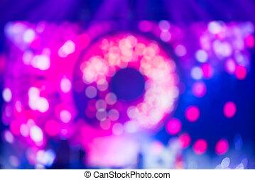 musik, levande, visa, suddig, blå, purpurfärgad fond