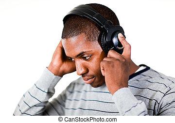 musik lyssna, man