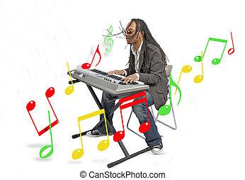musik, mann