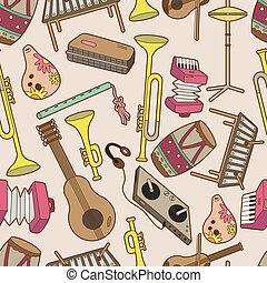 musik, muster, seamless