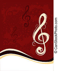musik note - vector illustration of a music note on a...