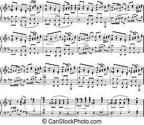 musik noterer, tekstur