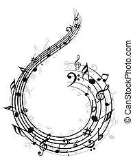 musik notiz, hintergrund