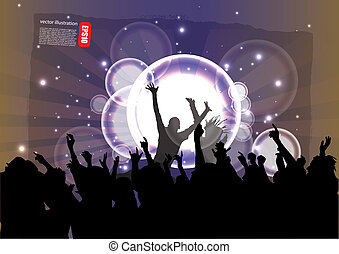 musik, party, hintergrund