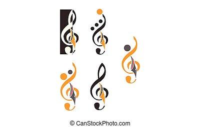 musik, satz, bildung, schablone