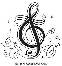 musik, slå