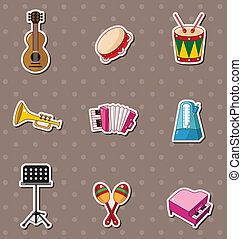 musik, stickers