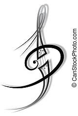 musik, t�towierung