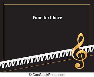 musik, unterhaltung, plakat, rahmen