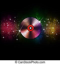musik, vinyl, hintergrund, disko