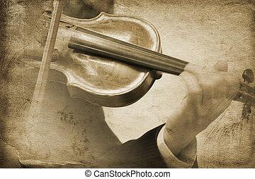 musik, weinlese