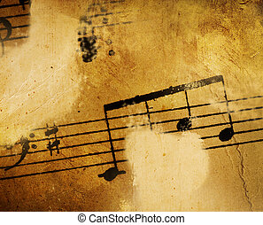 musik, weinlese, hintergrund