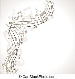 musikalischer Hintergrund mit Noten