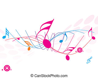 musikalisches, welle, von, musical merkt