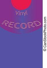musikalisk, audio, är, en, gammal, årgång, retro, hipster, antikvitet, vinyl, av, den, 50, 60's, 70, 80, 90, avskrift, space., vektor, illustration